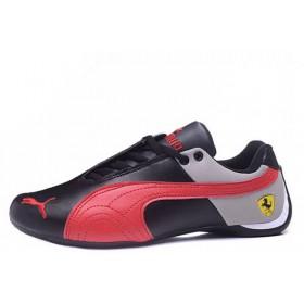 Puma Ferrari Low Black Grey Red мужские кроссовки