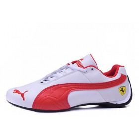 Puma Ferrari Low White Red мужские кроссовки