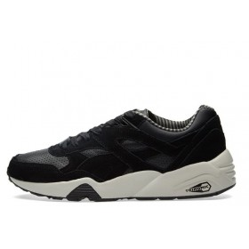 PUMA R698 CITI SERIES Black & Vaporous Grey мужские кроссовки