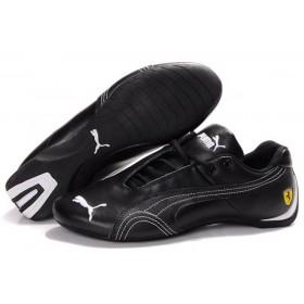 Puma Ferrari Low Black White мужские кроссовки
