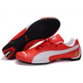 Puma Ferrari Low Red White мужские кроссовки