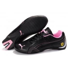 Puma Ferrari Low Black Pink женские кроссовки