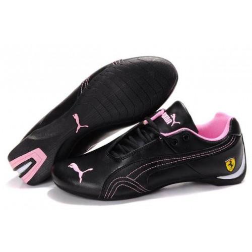 Женские кроссовки Puma Ferrari Low Black Pink