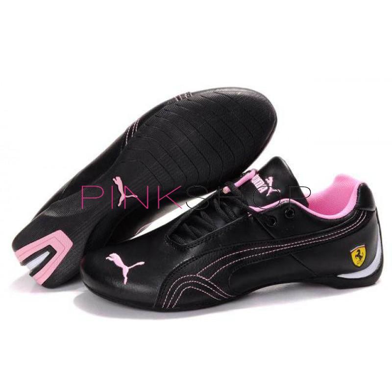 Женские кроссовки Puma Ferrari Low Black Pink b2595f59512