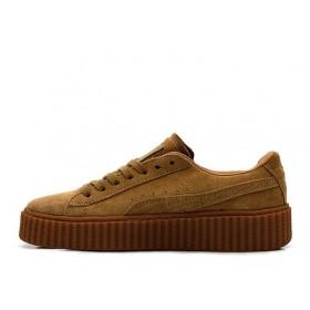 "Puma Rihanna Suede Creeper ""Wheat"" женские кроссовки"