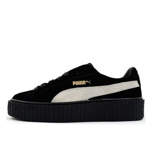 Rihanna x PUMA Creeper (Black/White) женские кроссовки
