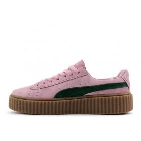 Rihanna x PUMA Creeper (Pink Green) женские кроссовки