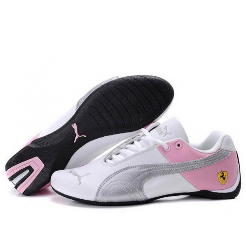 Женские кроссовки Puma Ferrari (Пума Феррари) White Pink