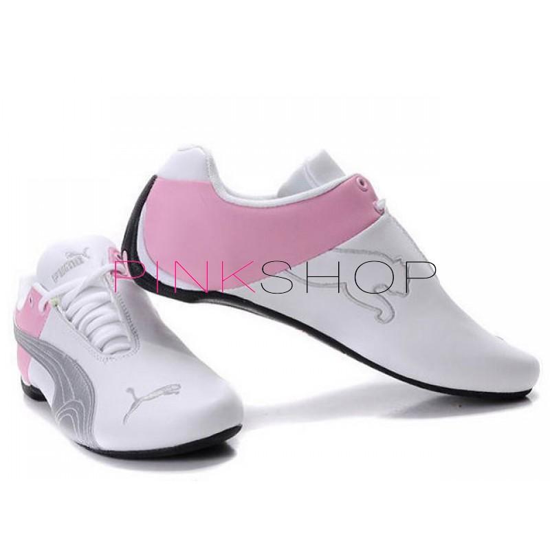 Купить женские кроссовки Puma Ferrari (Пума Феррари) White Pink в ... cadecb50930