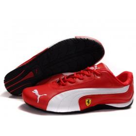 Женские кроссовки Puma Ferrari (Пума Феррари) Red White