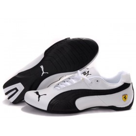 Женские кроссовки Puma Ferrari (Пума Феррари) White Black