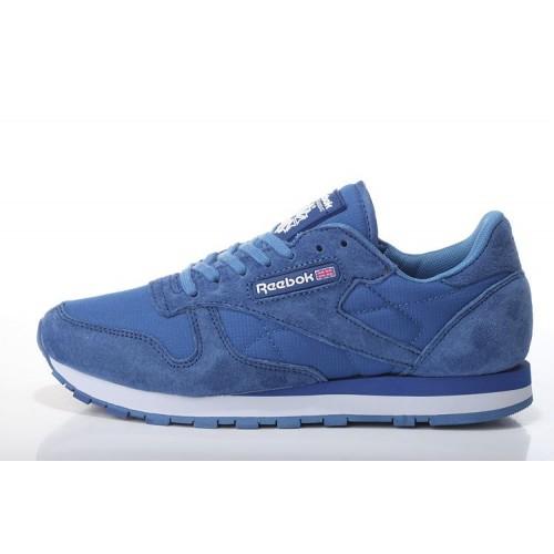 Reebok CL Classic Suede Blue мужские кроссовки