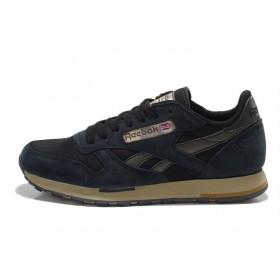 Reebok Classic Suede Black мужские кроссовки