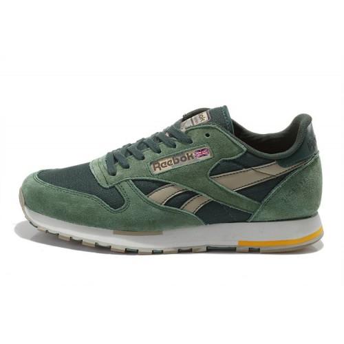 Reebok Classic Suede Green мужские кроссовки