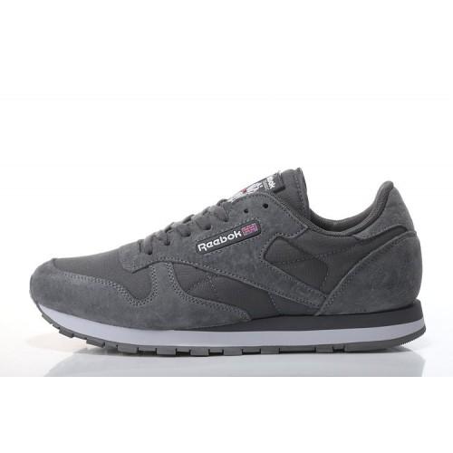 Reebok Classic Suede Grey мужские кроссовки