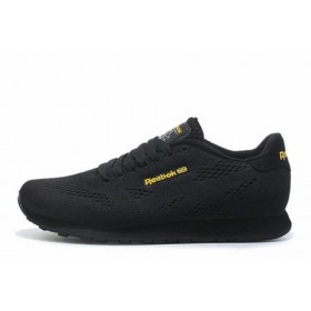 Reebok CL Engineered Mesh Black Gold мужские кроссовки