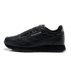 Reebok Classic Leather Black женские кроссовки