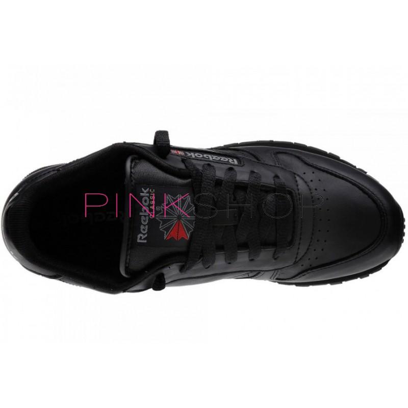 ... Reebok Classic Leather Black женские кроссовки ... dee9e3abcb302
