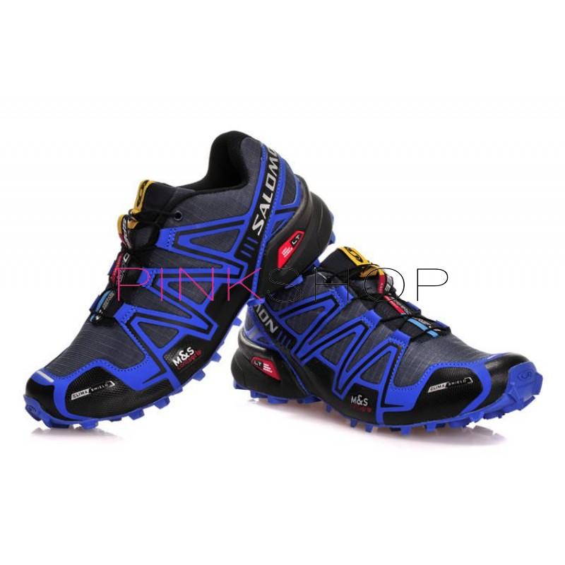 Кроссовки Salomon Speedcross 3 Black Blue купить мужские кроссовки в ... a48f5879cf833