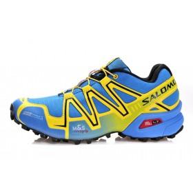 Salomon Speedcross 3 Yellow Blue мужские кроссовки