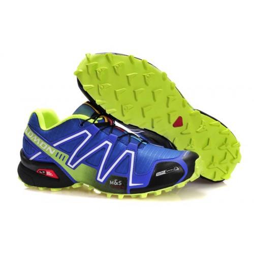 Salomon Speedcross 3 Blue Lime мужские кроссовки