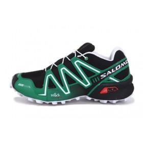 Salomon Speedcross 3 Black Green мужские кроссовки