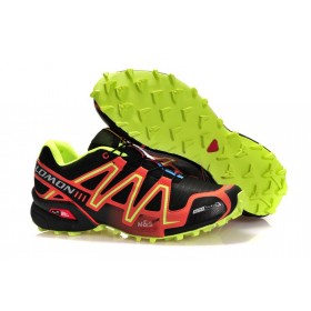 Salomon Speedcross 3 Black Lime мужские кроссовки