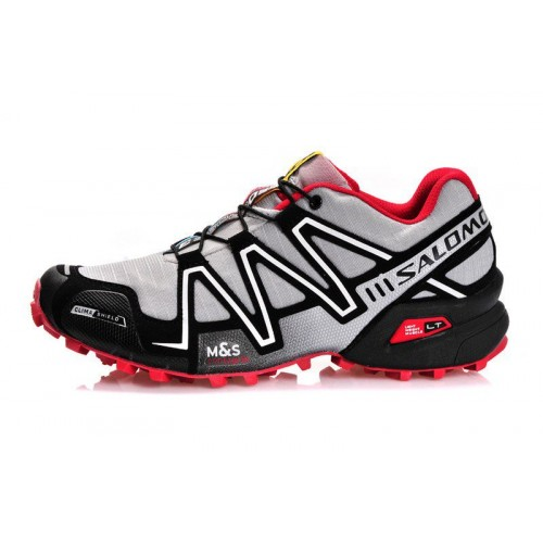 Salomon Speedcross 3 Grey Red мужские кроссовки