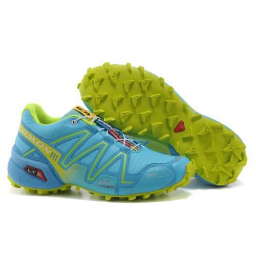 Женские кроссовки Salomon Speedcross 3 (Саломон СпидКросс 3) Blue Green
