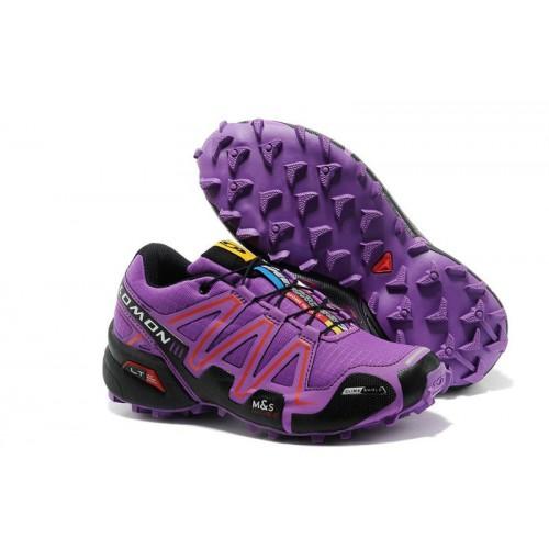 Женские кроссовки Salomon Speedcross 3 (Саломон СпидКросс 3) Purple Black