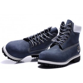 Timberland Classic 6 inch Blue White Boots женские Тимберленды