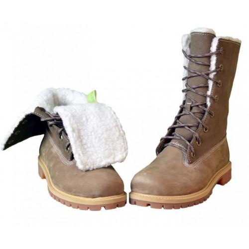 Timberland Teddy Fleece China Brown женские ботинки