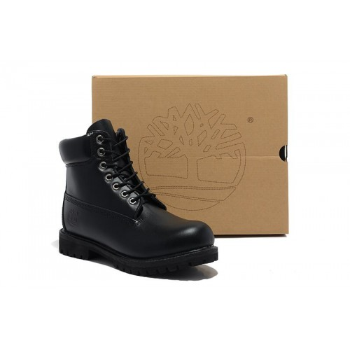 Timberland 6 inch Smooth Black мужские