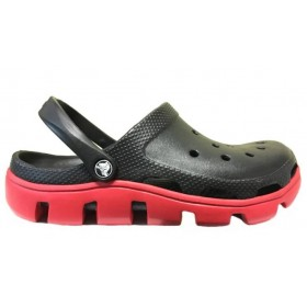 Crocs Duet Sport Clog Black Red мужские
