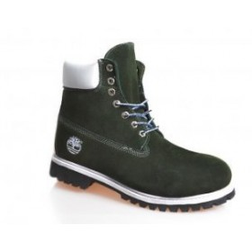Timberland 6 inch Green White Boots Winter Edition