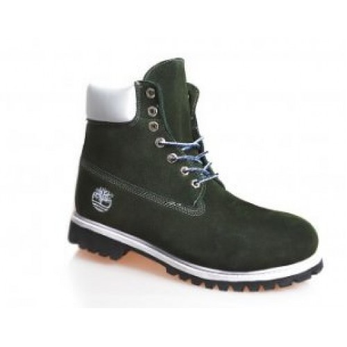 Timberland 6 inch Green White Boots Winter Edition мужские