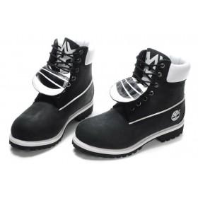 Timberland Classic 6 inch Black White Boots мужские Тимберленды