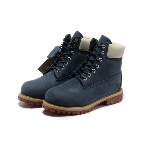 Timberland Classic 6 inch Blue White Yellow Boots мужские Тимберленды