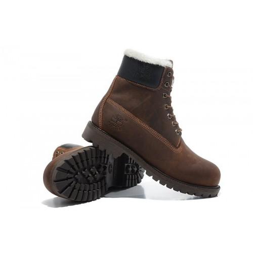 Timberland Classic 6 inch Brown Boots Winter Edition мужские Тимберленды