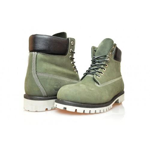 Timberland Classic 6 inch Green Boots НЕТ мужские Тимберленды