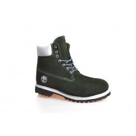 Timberland Classic 6 inch Green Boots Winter Fur мужские Тимберленды