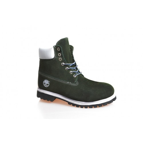 Timberland Classic 6 inch Green Boots Winter Fur мужские Тимберленды