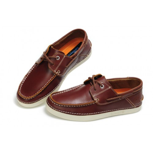 Мокасины Timberland Classic Boat Burgundy Shoes мужские
