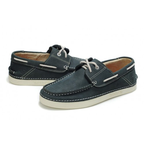 Мокасины Timberland Classic Boat Dark Blue Shoes мужские