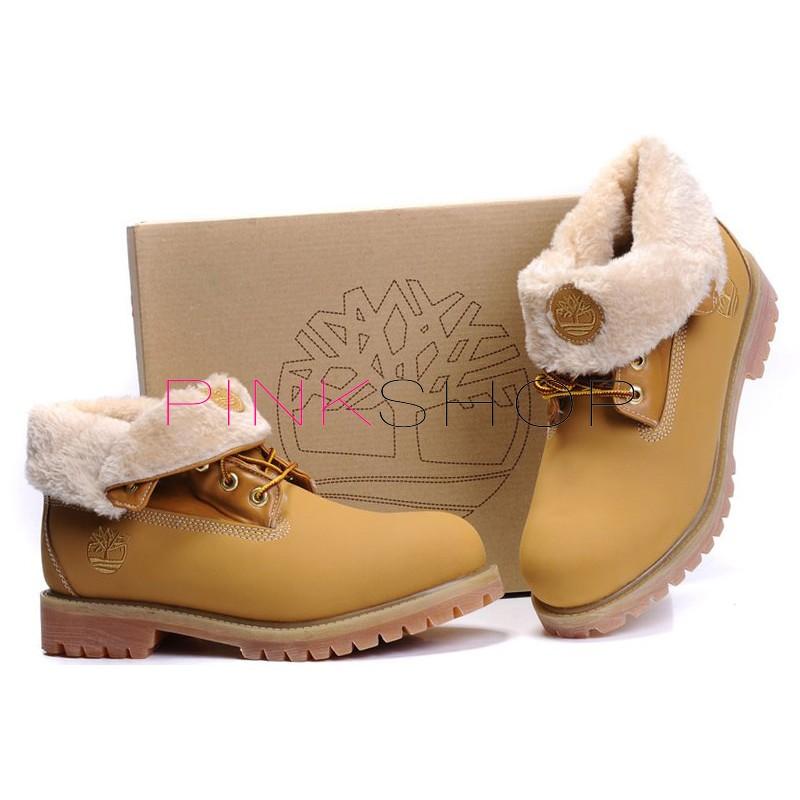 ... Timberland Roll Top Yellow женские Тимберленды ... 88c4c9cdf2f24