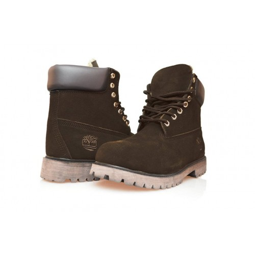 Timberland Classic 6 inch Brown Boots Winter Fur мужские Тимберленды