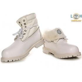 Timberland Roll Top White женские ботинки