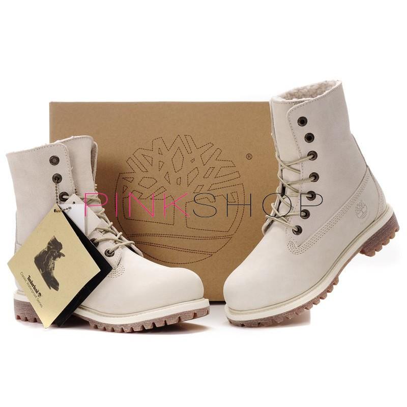 Timberland Teddy Fleece White купить женские ботинки Тимберленд в ... 75bbd5c4a685c