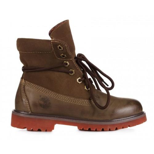 Timberland Classic Bandits Khaki женские ботинки