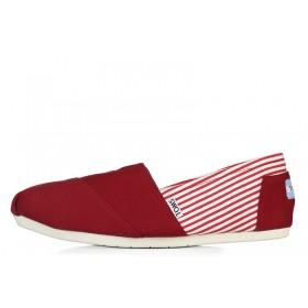 Toms Classics Stripes Red женские эспадрильи